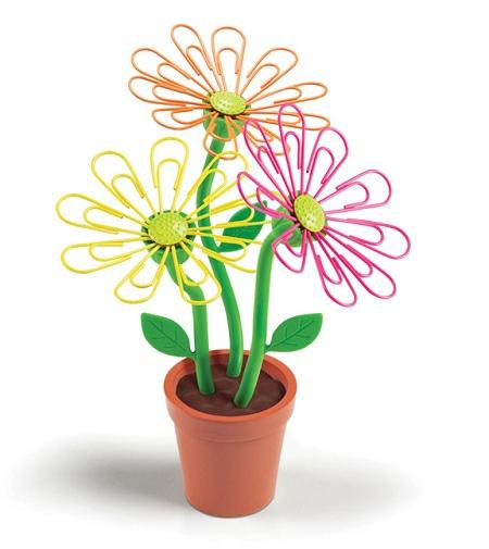 Скрепки в виде цветка